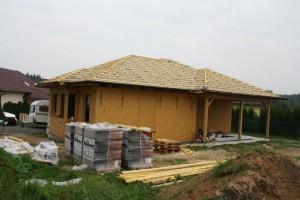 Stavba dřevostavby na klíč - Bungalov Říčany
