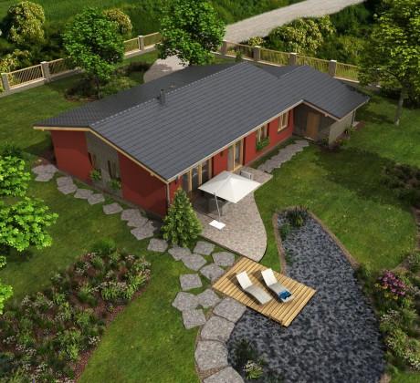 Fotografie domu Albert, který stavíme levně jako dřevostavbu na klíč