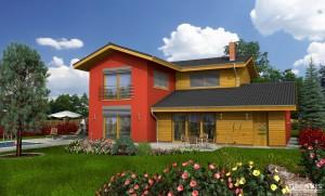 Fotografie domu Amfora, který stavíme levně jako dřevostavbu na klíč