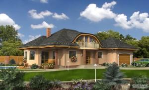 Model domu Aria Plus, který stavíme levně jako dřevostavbu na klíč
