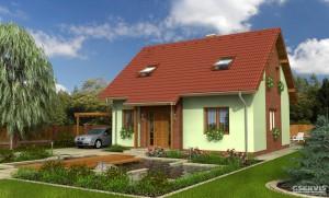 Model domu Astra, který stavíme levně jako dřevostavbu na klíč