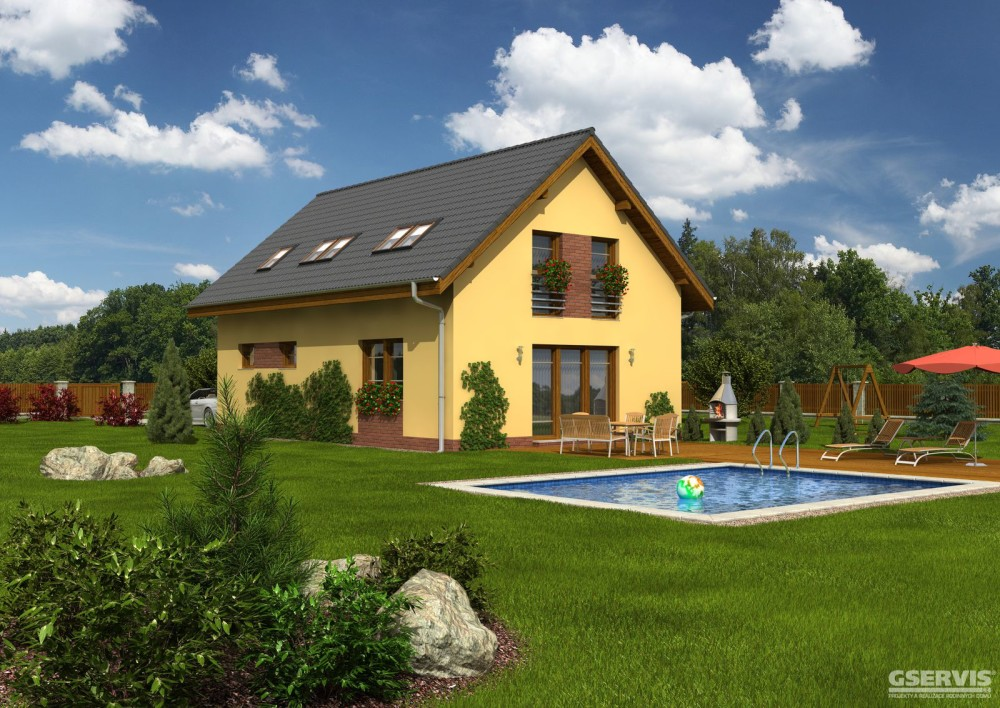 Fotografie domu Atom, který stavíme levně jako dřevostavbu na klíč