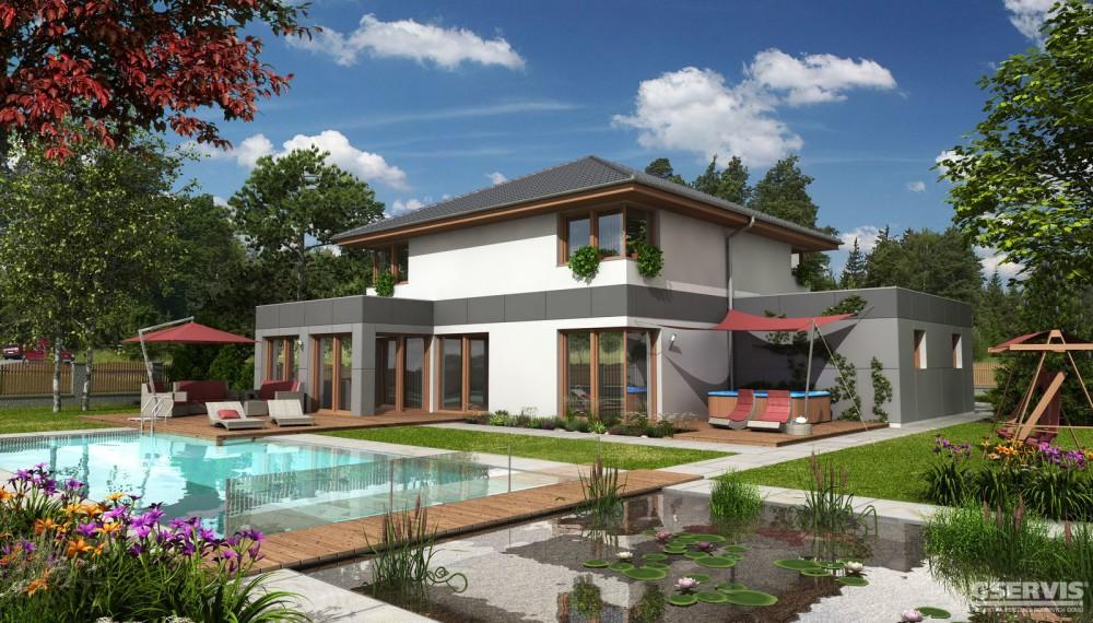 Fotografie domu Bohemia, který stavíme levně jako dřevostavbu na klíč