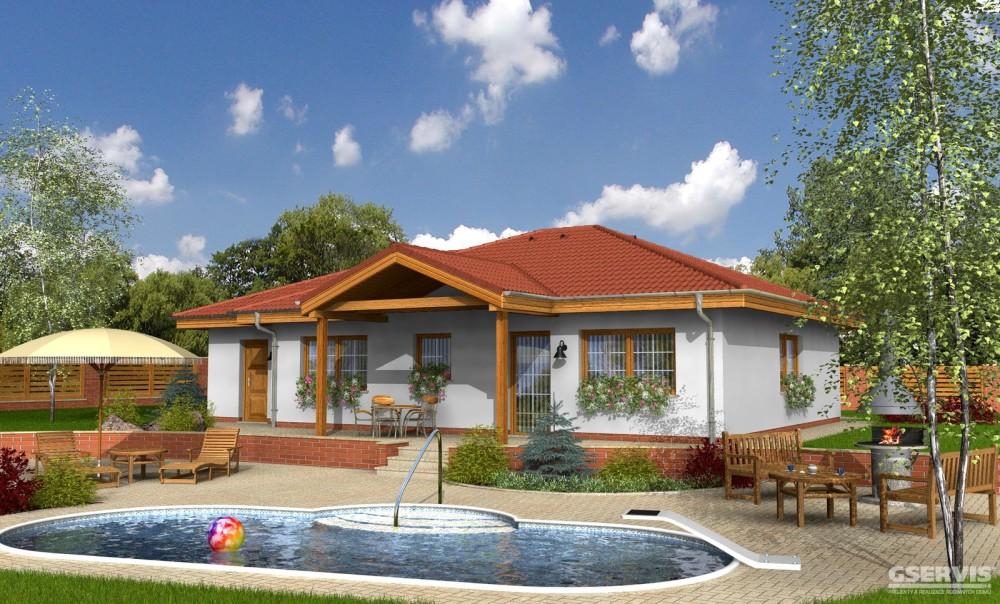 Fotografie domu Bungalov 12, který stavíme levně jako dřevostavbu na klíč