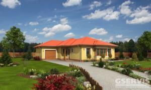 Fotografie domu Bungalov 59, který stavíme levně jako dřevostavbu na klíč