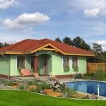 Fotografie domu Bungalov 68, který stavíme levně jako dřevostavbu na klíč