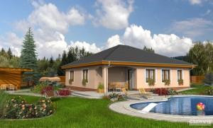 Fotografie domu Bungalov 49, který stavíme levně jako dřevostavbu na klíč