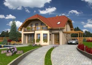 Model domu Diamant, který stavíme levně jako dřevostavbu na klíč