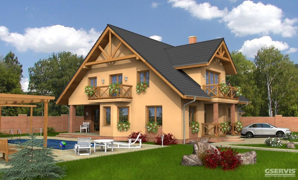 Model domu Dominant Plus, který stavíme levně jako dřevostavbu na klíč