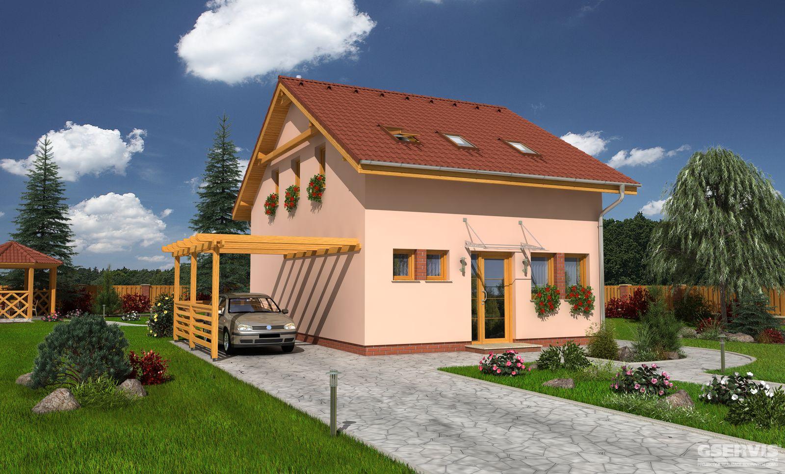 Model domu Dukát, který stavíme levně jako dřevostavbu na klíč