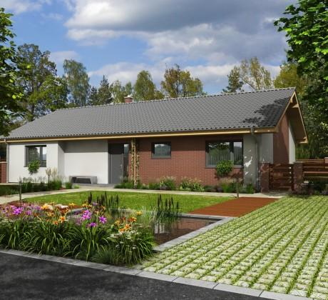 Fotografie montovaného domu Bungalov, který stavíme levně jako dřevostavbu na klíč