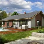 Fotografie domu Bungalov, který stavíme levně jako dřevostavbu na klíč