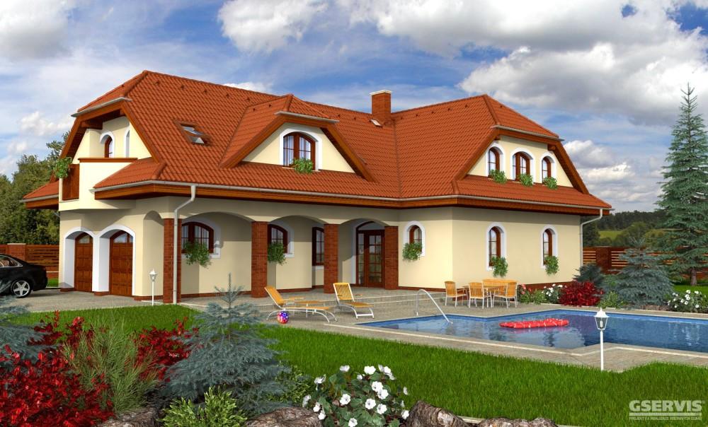Model domu Elegant 160, který stavíme levně jako dřevostavbu na klíč