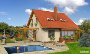 Model domu ESO, který stavíme levně jako dřevostavbu na klíč