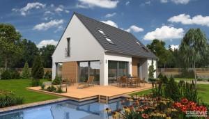 Model domu Face, který stavíme levně jako dřevostavbu na klíč