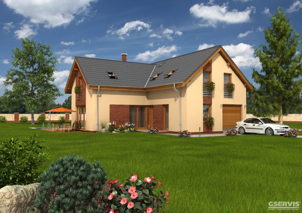 Model domu Flash, který stavíme levně jako dřevostavbu na klíč