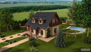 Model domu Hit 1, který stavíme levně jako dřevostavbu na klíč