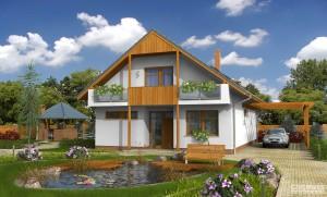 Model domu Impuls, který stavíme levně jako dřevostavbu na klíč