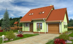 Model domu Inka, který stavíme levně jako dřevostavbu na klíč