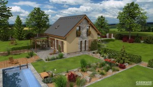 Model domu Kapa, který stavíme levně jako dřevostavbu na klíč