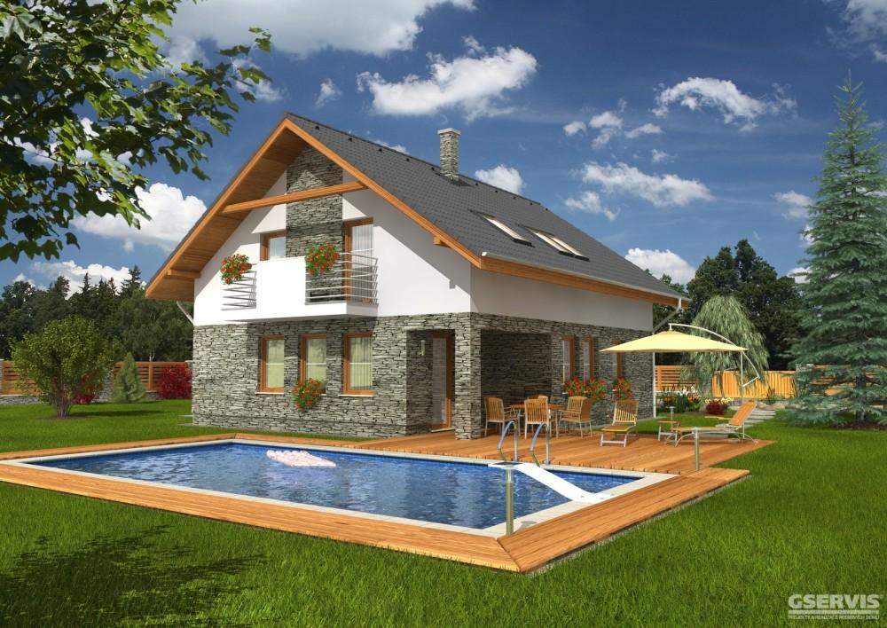 Fotografie domu Kompakt 48, který stavíme levně jako dřevostavbu na klíč