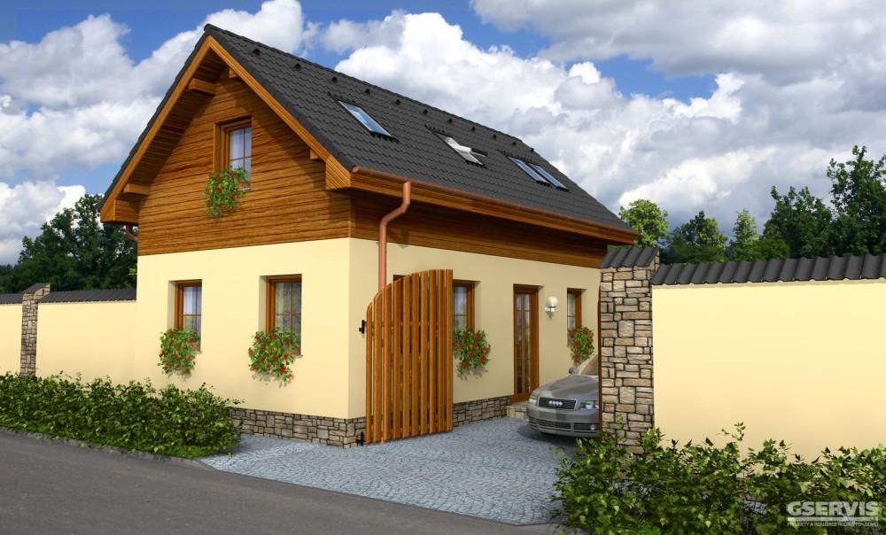 Model domu Luneta, který stavíme levně jako dřevostavbu na klíč
