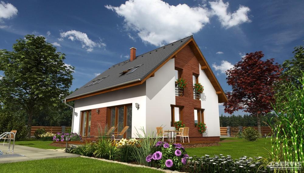 Fotografie domu Lyra, který stavíme levně jako dřevostavbu na klíč