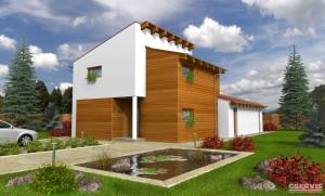 Model domu Mystik, který stavíme levně jako dřevostavbu na klíč