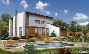 Model domu Progres, který stavíme levně jako dřevostavbu na klíč