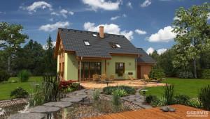 Fotografie domu Siesta Plus, který stavíme levně jako dřevostavbu na klíč