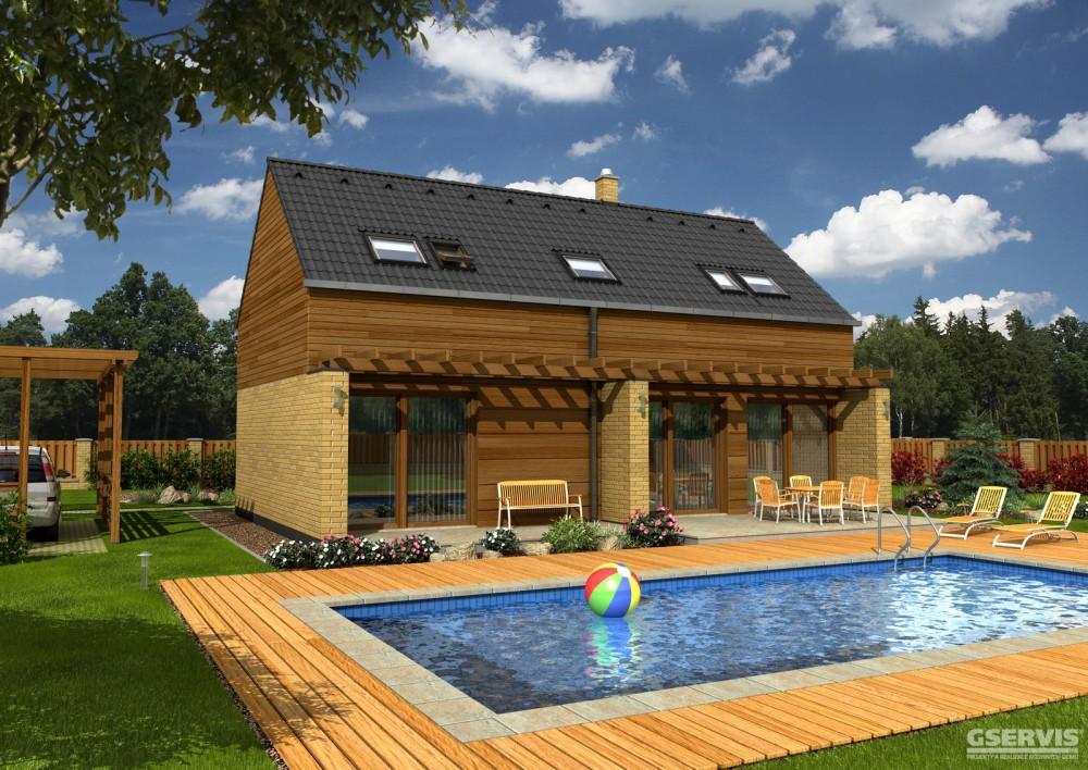 Model domu Zeta, který stavíme levně jako dřevostavbu na klíč