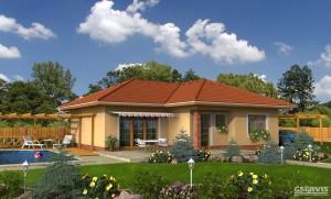 Model domu Atlas, který stavíme levně jako dřevostavbu na klíč