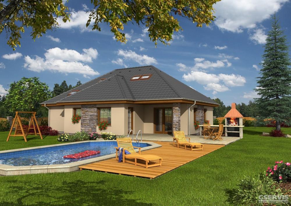 Fotografie domu Bungalov 81, který stavíme levně jako dřevostavbu na klíč