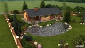 Model domu UNO 2, který stavíme levně jako dřevostavbu na klíč