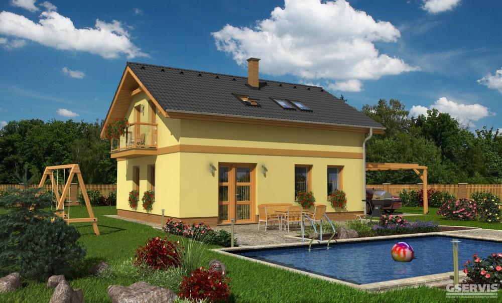 Fotografie domu Ametyst, který stavíme levně jako dřevostavbu na klíč