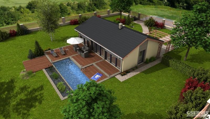 Model domu Axor, který stavíme levně jako dřevostavbu na klíč