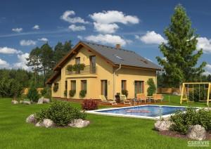 Model domu Efekt Plus, který stavíme levně jako dřevostavbu na klíč