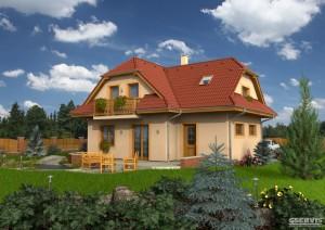 Model domu Elegant 99 Plus, který stavíme levně jako dřevostavbu na klíč