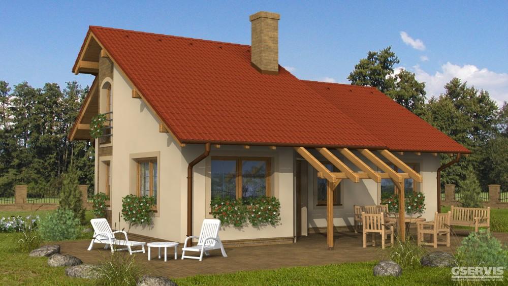 Model domu Estet, který stavíme levně jako dřevostavbu na klíč