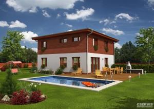 Fotografie domu Excelent, který stavíme levně jako dřevostavbu na klíč