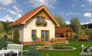 Model domu Fenix, který stavíme levně jako dřevostavbu na klíč