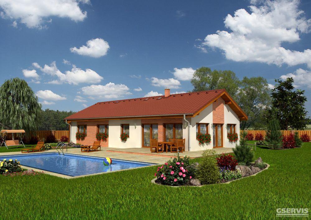 Fotografie domu Iris, který stavíme levně jako dřevostavbu na klíč