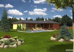 Fotografie domu Luna, který stavíme levně jako dřevostavbu na klíč
