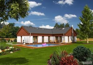 Fotografie domu Magic, který stavíme levně jako dřevostavbu na klíč