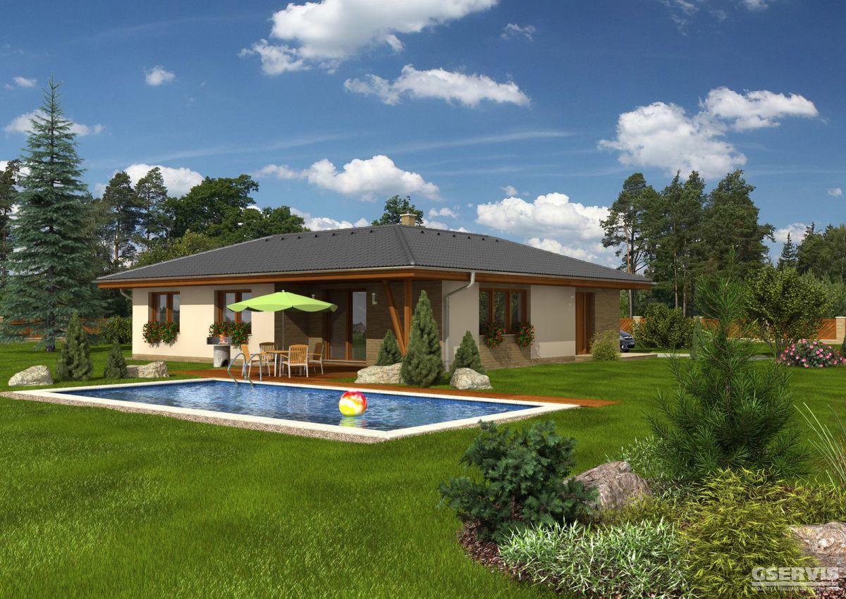 Fotografie domu Malorka, který stavíme levně jako dřevostavbu na klíč