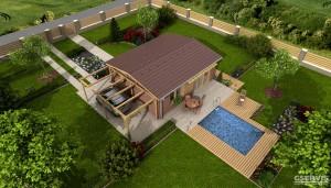 Fotografie domu Studio A, který stavíme levně jako dřevostavbu na klíč