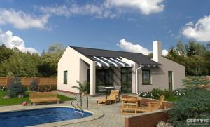 Fotografie domu Dynamik, který stavíme levně jako dřevostavbu na klíč