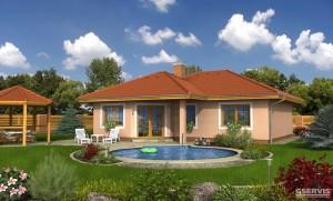 Model domu Havaj Plus, který stavíme levně jako dřevostavbu na klíč