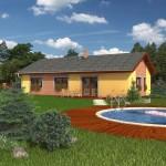 Model domu Nemo, který stavíme levně jako dřevostavbu na klíč